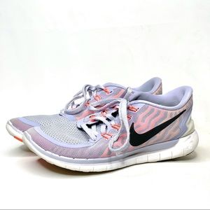 Nike Free 5.0 Lavender Running Shoes Size 8